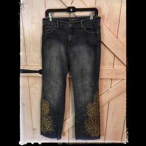 Size 8 DKNY So-Low-Lita Jean with Leg Embelishment